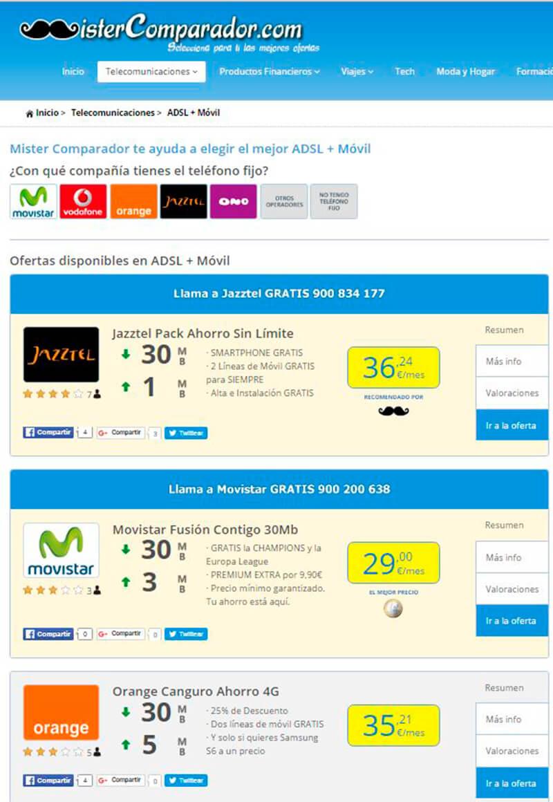 Comparador de tarifas combinadas: conoce los packs de telefonía e internet más allá de tu móvil